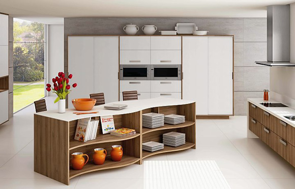 Com materiais mais modernos as cozinhas ganham curvas for Modelos de armarios modernos