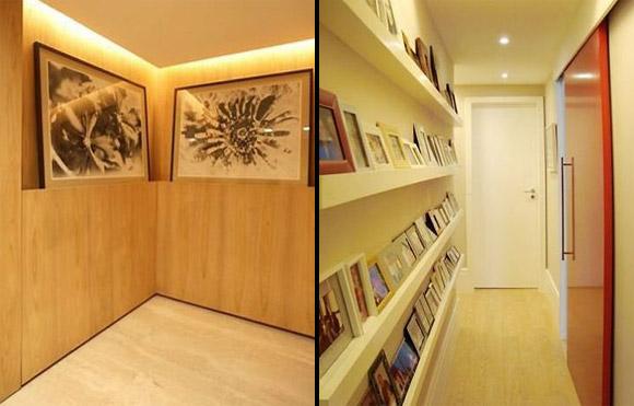 decoracao alternativa de apartamento: para quadros e porta-restratos, de Eliane Fiúza. (Fotos: O Globo