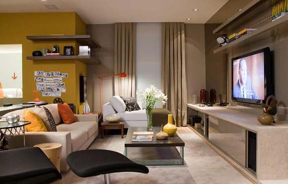 Cinema e esporte inspiram a cria o de ambientes do casa for Ambientes interiores
