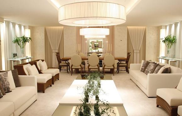 Fotos De Sala De Estar Chique ~ sala de estar e jantar foi projetada pela arquiteta Ana Lúcia Jucá