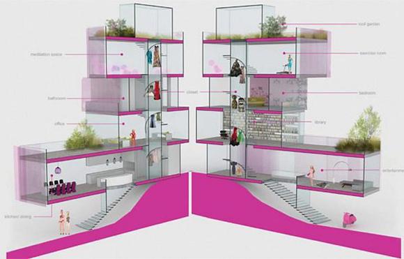 Projeto vencedor do concurso para casa da barbie arquiteta tem pain is fotovoltaicos e telhado - Plan de maison de barbie ...