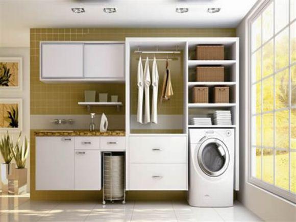 Armario Lavanderia Planejado ~ Veja 10 ideias charmosas para aárea de serviço da sua casa ZAP em Casa