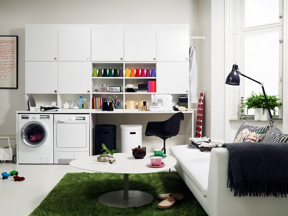 Veja 10 ideias charmosas para a rea de servi o da sua casa zap em casa Energy efficient kitchen design