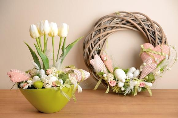 decoração de páscoa com enefeites