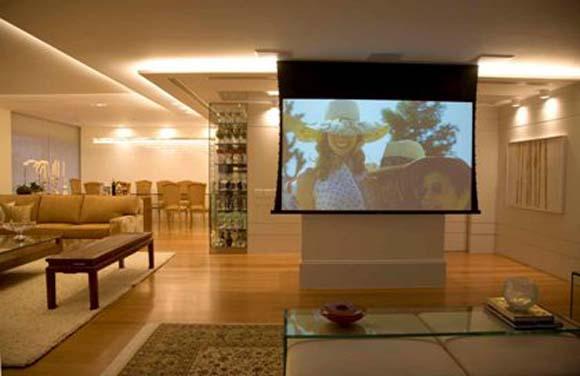 Transforme a sua sala em um cinema zap em casa - Sala cinema in casa ...
