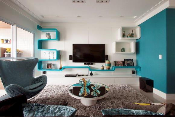 decoracao de sala azul turquesa e amarelo:Essencia feminina: Decoração:Uma cor para se inspirar-Azul turquesa