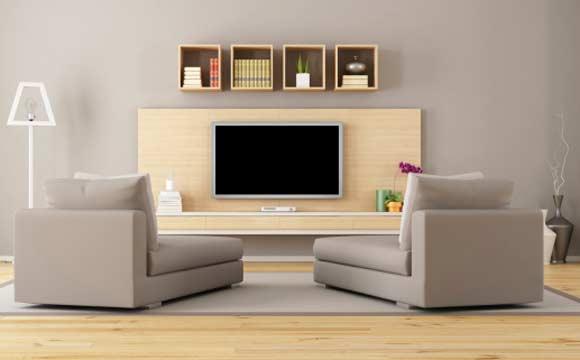 O rack com painel é um dos modelos mais utilizados pelas pessoas e dá um design diferente à sala