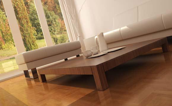 tipos de piso taco de madeira