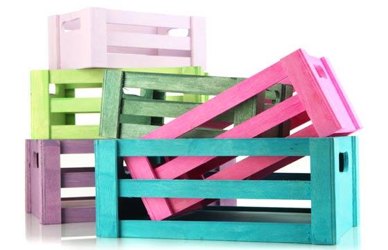 Caixotes podem ser pintados de qualquer cor facilmente (Fotos: Shutterstock)