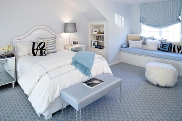 Cores claras no quarto