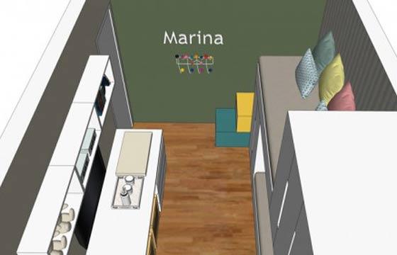 Parede com tinta lousa tira a preocupação dos pais com paredes rabiscadas (Foto: Natália Shinagawa / arquiteturainteriores.com)