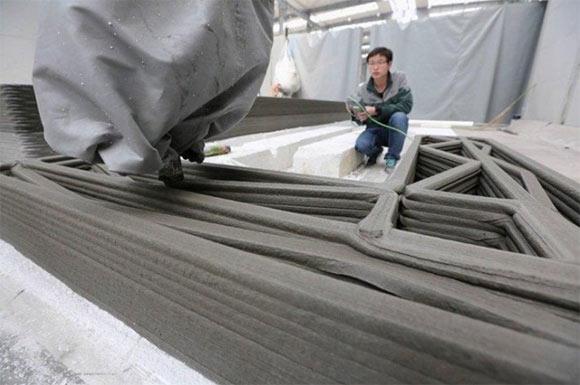 Impressora utilizada pelos chineses levou 24 horas para construir a casa
