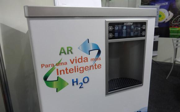 máquina produz água do ar