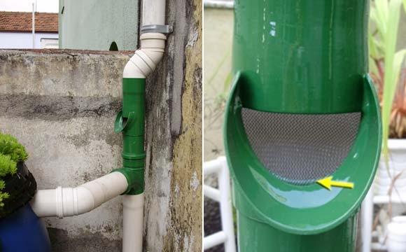 Estes tubos vão filtrar as sujeiras mais grosas como folhas secas de árvores, pequenos insetos, penas de pássaros, entre outras impurezas