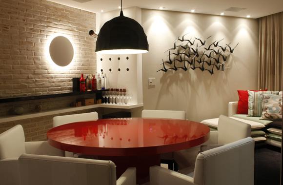 Luminárias Sala De Estar E Jantar ~ Na sala de jantar é recomendável que a distância entre o tampo e a
