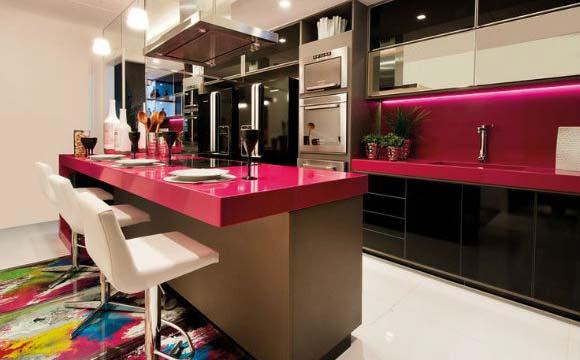 cozinha gourmet rosa