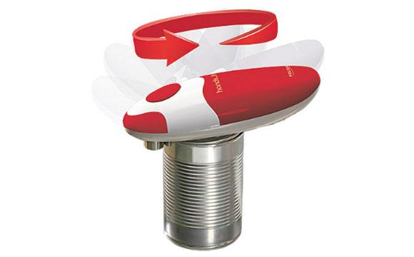 Abrir latas causa certa dificuldade em algumas pessoas. Este produto, à venda na loja Polishop por R$ 99,95, faz todo o trabalho pra você (Foto: Reprodução/Polishop)