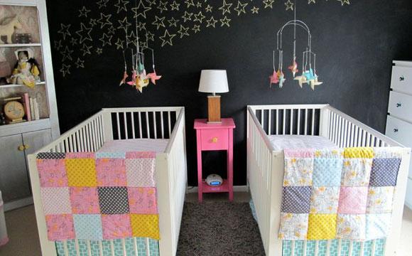 Manter o equilíbrio é fundamental para não deixar o quarto do bebê muito pesado (Foto: Pinterest)
