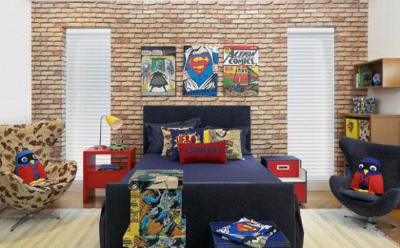 Decoração de quarto pode mesclar mais de um super-herói (Fotos: Reprodução/Pinterest)