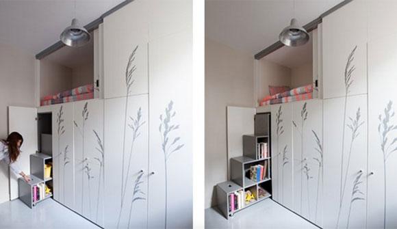 apartamento de 8 metros quadrados tem sala cozinha e quarto embutidos. Black Bedroom Furniture Sets. Home Design Ideas