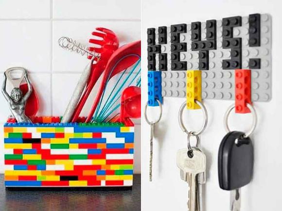 Lego pode ser utilizado para criar inúmero utensílios de casa (Fotos: Pinterest)
