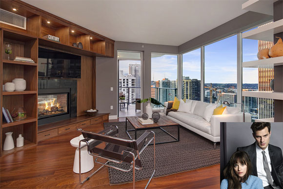 Apartamento é retratado no livro como um dos palcos do romance entre Christian Grey e Anastácia Steele (Fotos: Reprodução - WSJ- Divulgação)