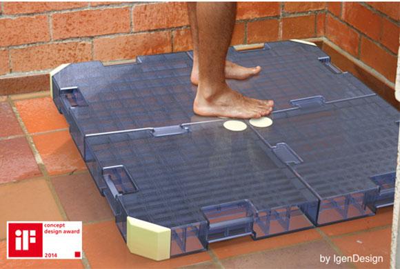 Solução para captar água do banho