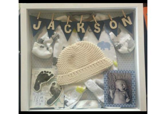 Quadro de lembranças do bebê