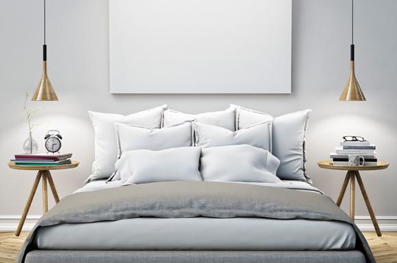 Ao comprar o jogo de lençóis, opte por cores claras, evitando estampas muito chamativas (Fotos: Shutterstock)
