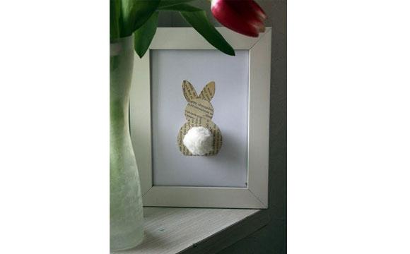pascoa porta retrato de coelho