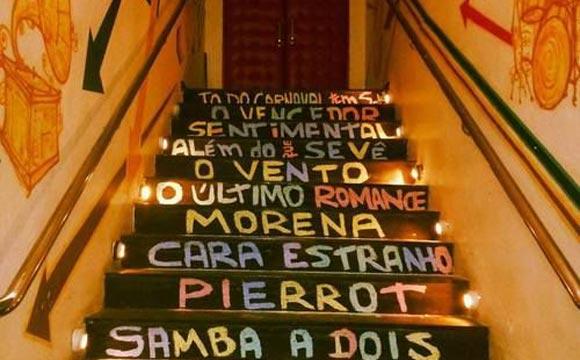 frases na escada