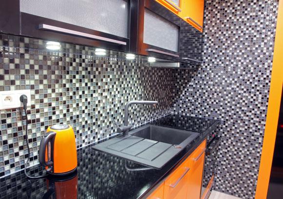 decoração laranja na cozinha