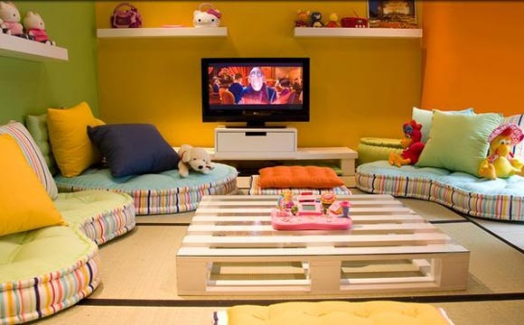 sala com futon
