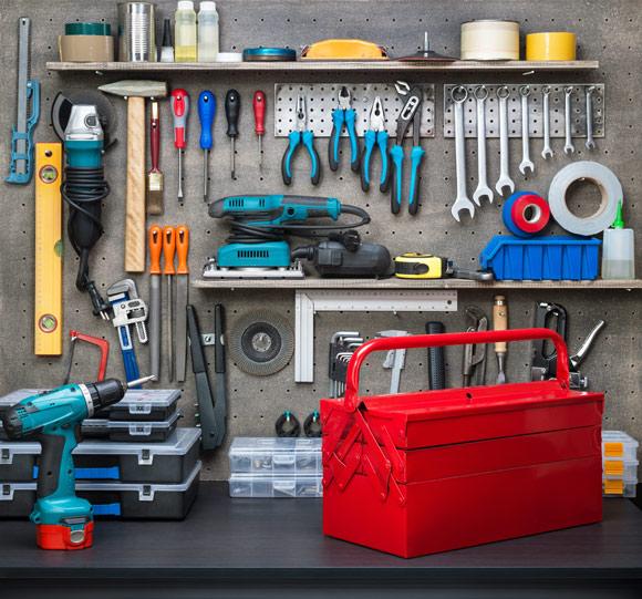 Painel de ferramenta: você mesmo pode montar para organizar as peças (Foto: Shutterstock)