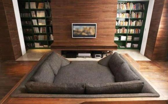 Sofá-cama pode ser confortável e utilizado em vários ambientes da casa (Foto: Reprodução/Pinterest)