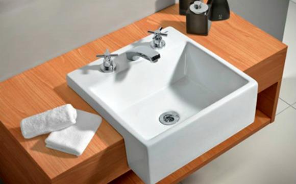 Cuba para banheiro  Saiba como escolher -> Cuba Banheiro Semi Encaixe