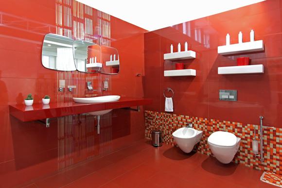 Banheiro decorado Dicas e idéias de decoração de banheiros do moderno ao sim -> Um Banheiro Moderno