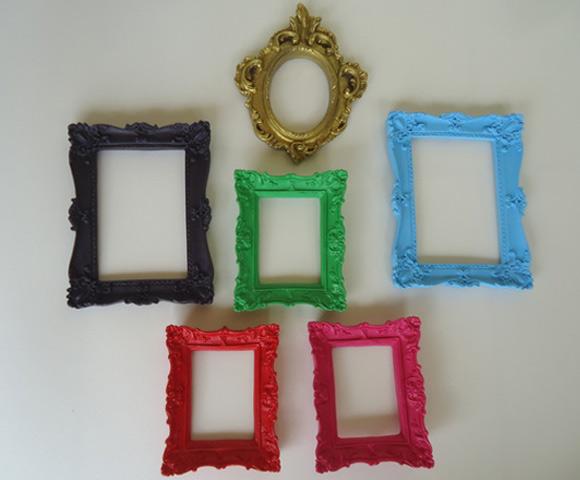 Conjunto Molduras Provençais Coloridas