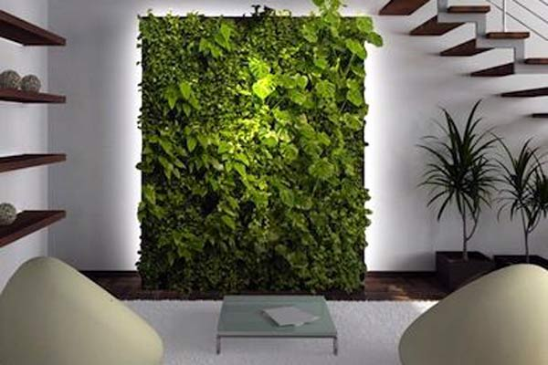Em ambientes internos é possível fazer um mix de plantas e flores