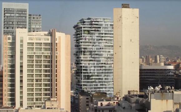 prédios em Beirute