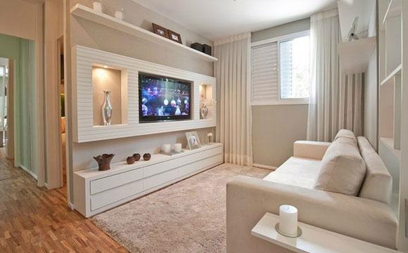 Painel De Sala De Tv Decorado ~ Painel para tv pode ser coringa na decoração  Garante Araribóia