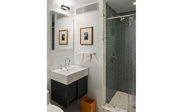 Banheiros Pequenos Confira 20 dicas para deixar o ambiente ainda mais bonito -> Armario Banheiro Vazado