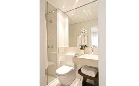 Banheiros Pequenos Confira 20 dicas para deixar o ambiente ainda mais bonito -> Como Deixar Um Banheiro Pequeno Bonito