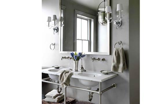 Banheiros Pequenos Confira 20 dicas para deixar o ambiente ainda mais bonito -> Pia Banheiro Apoio