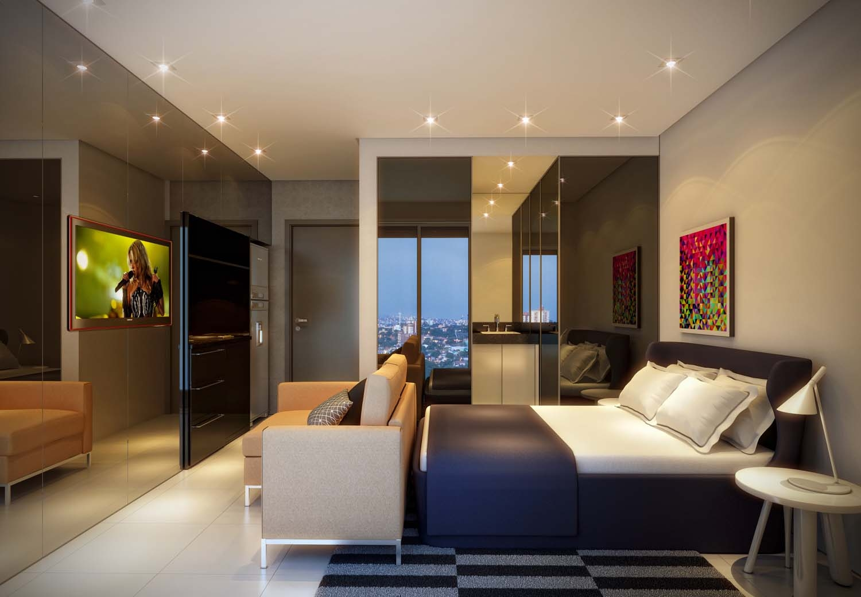 #356196 Apartamentos pequenos: conheça cinco projetos que solucionam a falta  1500x1040 px Projetos Cozinha Apartamento Pequeno #5 imagens