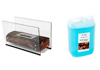 Biofluido e lareira da Ecofireplaces