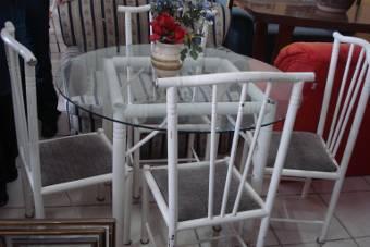 mesa branca vidro