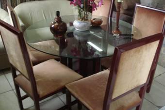 mesa mogno vidro