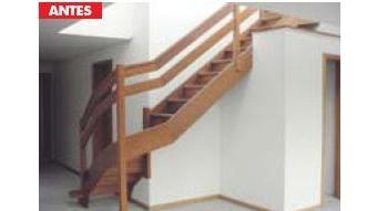 escada antes
