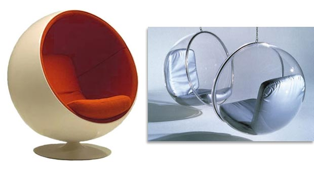 BALL AND BUBBLE CHAIRS